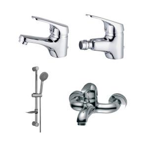 Conjunto de 3 torneiras + rampa de duche