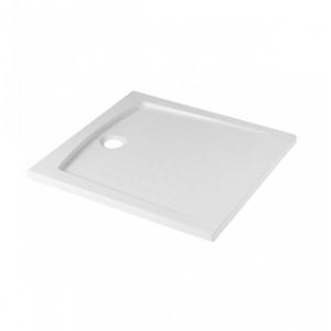 Conjunto de resguardo e base de duche 90x90 acrílico Branco