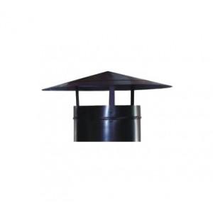 Chapéu para chaminés preto
