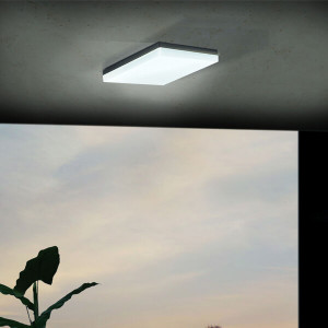 Candeeiro de teto plafon sonella preto