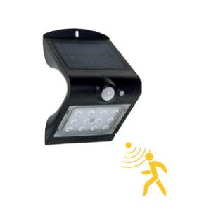 Aplique Led solar 1.5W com sensor