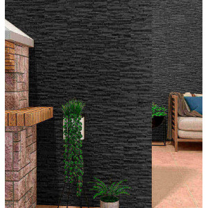Azulejo 17x52cm Behobia Negro 1ªescolha