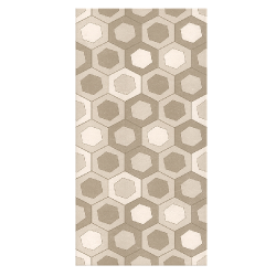 Azulejo decorado 34x66,5 Materica Cell Argila 3ª
