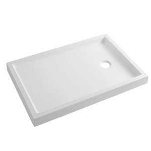 Base de duche plana 100x80 Piano Branca