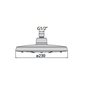 Chuveiro de teto Beam em abs Ø230 cromado