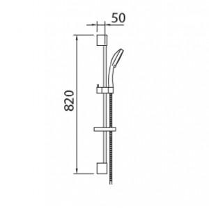 Rampa de duche Syvari com chuveiro+ ligação cromada