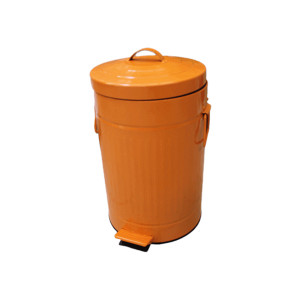 Balde para lixo Vintage 12 litros laranja