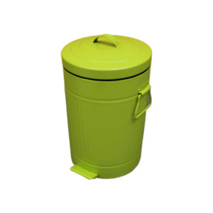 Balde para lixo Vintage 12 litros verde