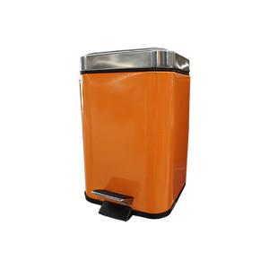 Balde de WC quadrado laranja de 3 L