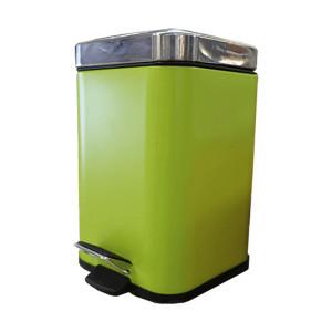 Balde para WC quadrado 3 litros verde