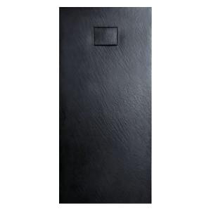 Base de duche em resina 100x80x3 preto