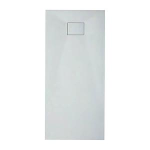 Base de duche em resina 100x80x3 branca