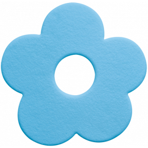 5 mini tapete banheira Mini Funky azul claro