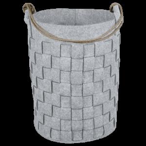Cesto para roupa Cosyhome 70 litros cinza