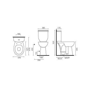 Pack Mobilidade Reduzida (sanita, tanque e tampo)