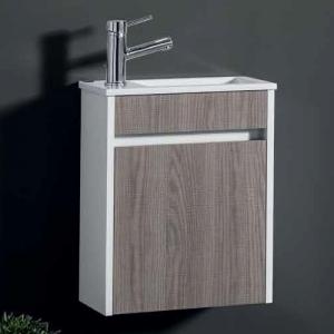 Móvel com lavatório Mini 40cm estepa/branco