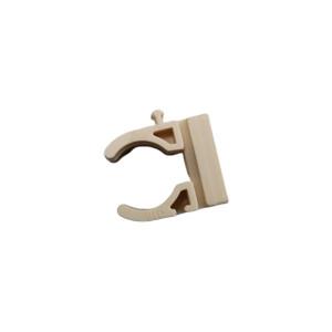Abraçadeira clip de 16mm creme