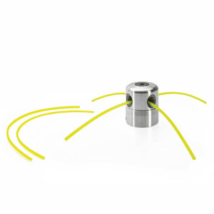 Cabeça de alumínio para  roçadeira com 4 furos para fio nylon