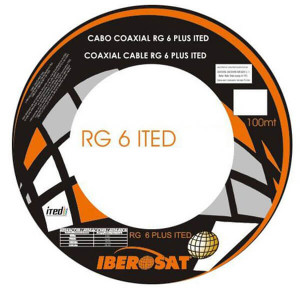 Cabo Coaxial RG6 Ited Iberosat Branco metro linear