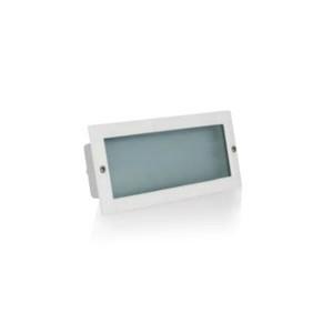 Aplique de embutir LED branco