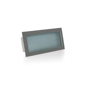 Aplique de embutir LED inox