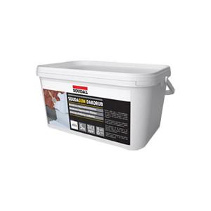Borracha acrílica impermeabilização Soudagum Dakorub 20 kg cinzenta
