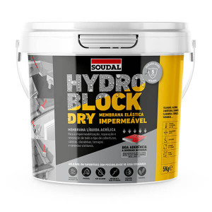 Borracha acrilica impermeabilização Hydroblock dry 5kg cinza