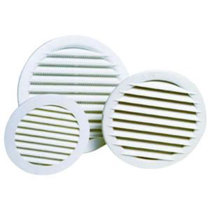 Grelha de ventilação com mola 125/160 Abs