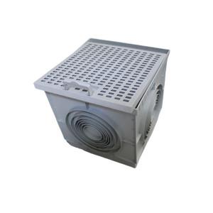 Caixa cúbica 40x40 PP com grelha Lux com pega