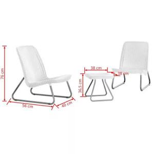 Conjunto 2 cadeiras e Mesa Rio