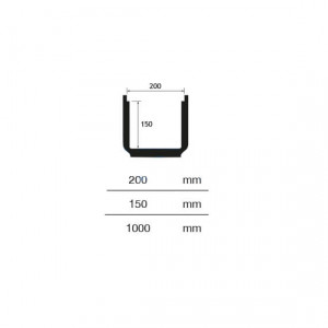Canal para chão taurus 200mm