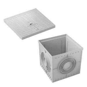 Caixa de esgoto com tampa com manipulo 40x40cm
