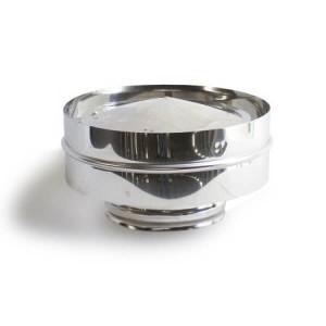 Chapéu com aba em Inox com 120 mm de diametro