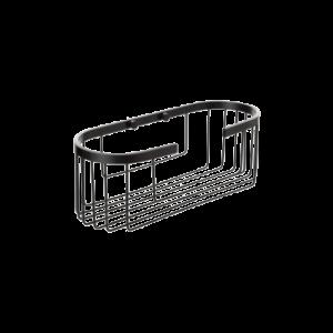 Cesto oval Aluminium Black