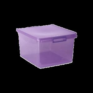 Caixa multiusos translucida ameixa 35l