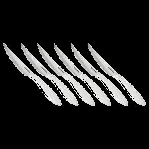 Conjunto de 6 facas para bife branco Presto