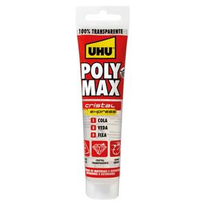 Cola e veda Poly Max Cristal Express 100% transparente 300 g