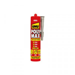 Cola e veda Poly Max Express cinza 425g