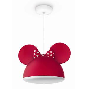 Candeeeiro de Suspensão Munnie Mouse Vermelho