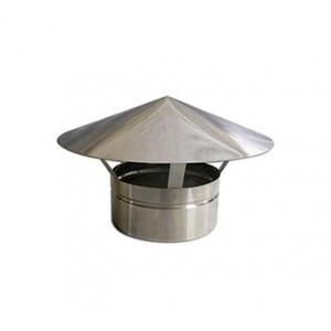 Chapéu em Inox 80mm de diâmetro