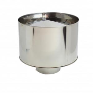 Chapéu com aba sem cone interior VM Inox 304 05 com diâmetro de 100