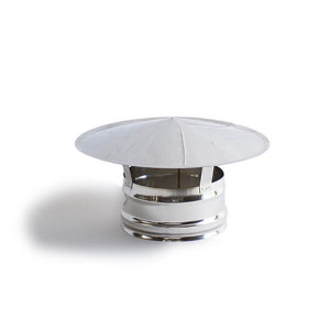 Chapéu simples em Inox sem cone interior 100 mm de diametro