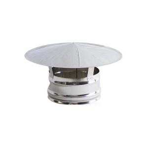 Chapéu Inox 304 04 sem cone interior diâmetro de 120