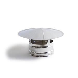 Chapéu simples em Inox sem cone interior 140 mm de diametro