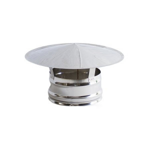 Chapéu simples inox 304 04mm, sem cone interior, 150mm
