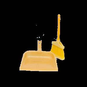 Conjunto de pá+vassoura cabo curto