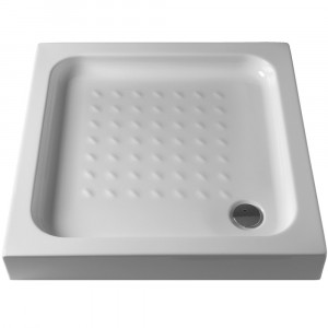 Base de duche antiderrapante Julia Branco 90x90x7,5