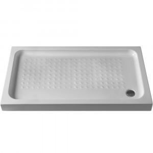 Base de duche antiderrapante Julia Branco 100x80x7,5