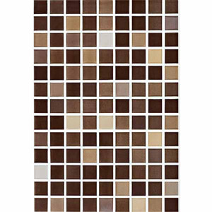 Azulejo 25x36.5cm mosaic diamond brown 1ªescolha