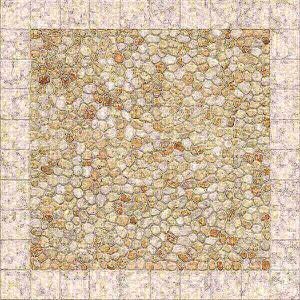 Mosaico antiderrapante 45x45cm Miramar creme 1ª escolha